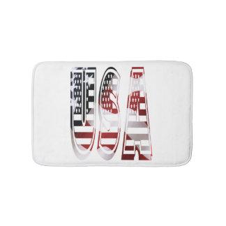 USA Flag American Logo Bath Mats