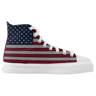 USA Flag American Patriotic Printed Shoes