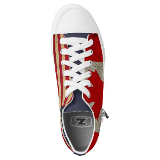 USA Flag and Canadian Flag Custom Trainers