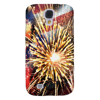 USA Flag and Fireworks Samsung Galaxy S4 Cover