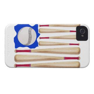 USA Flag Baseball Theme Case-Mate iPhone 4 Case