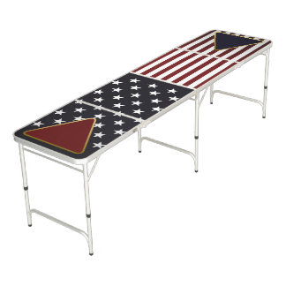 USA Flag Beer Pong Table