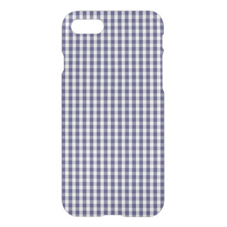 USA Flag Blue and White Gingham Checked iPhone 7 Case