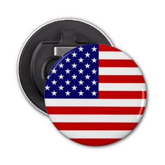 USA Flag Bottle Opener Round