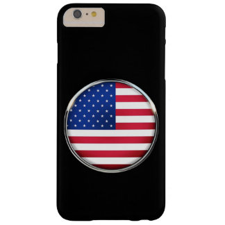USA Flag Button iPhone 6/6S Plus Barely There Barely There iPhone 6 Plus Case