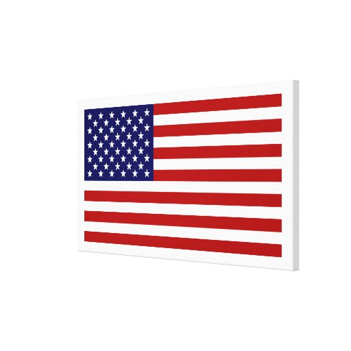 USA Flag Stretched Canvas Prints