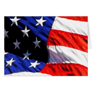 USA Flag Card