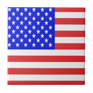 USA Flag Ceramic Tile