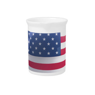 usa-flag circle design pitcher