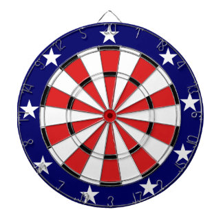 USA Flag colors Dart Board