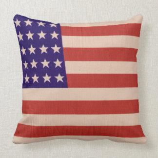 USA flag Throw Cushion