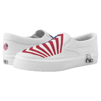 Usa Flag Custom Zipz Slip On Shoes,  Men & Women Printed Shoes