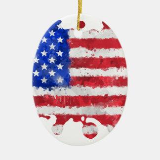 USA flag Christmas Ornaments