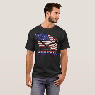 USA Flag - Eagle over Respect in Red, White & Blue T-Shirt
