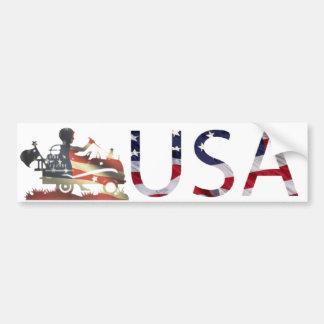 USA flag fade Fully Customizable Bumper Sticker