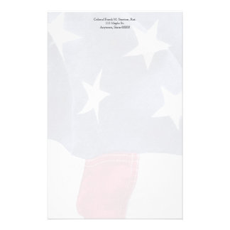 USA flag fade Stationery