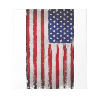USA flag Grunge Notepad