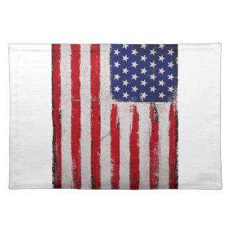 USA flag Grunge Placemat