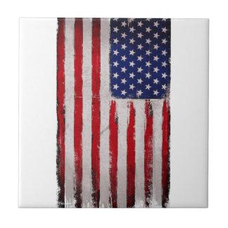 USA flag Grunge Tile