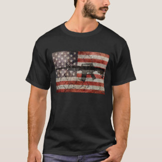 USA Flag & Gun T-Shirt