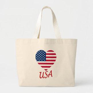 USA Flag Heart Bags
