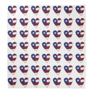 USA Flag Heart Bandana