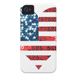 usa flag heart iPhone 4 case