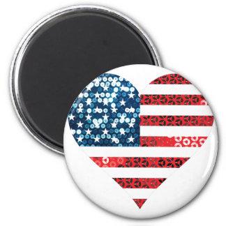 usa flag heart magnet