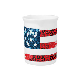 usa flag heart pitcher