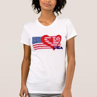 USA Flag Heart Shirt