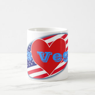 USA flag I Love Las Vegas Coffee Mug