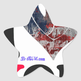 USA FLAG I LOVE YOU CUSTOMIZABLE PRODUCTS STAR STICKERS