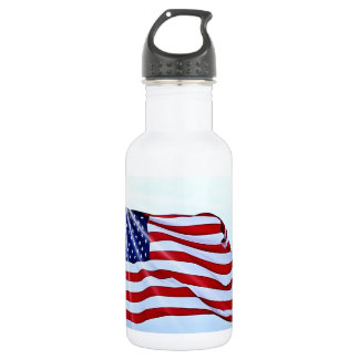 Usa flag in the wind 532 ml water bottle
