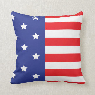 USA Flag Inspired Throw Pillow