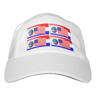 USA FLAG  Knit Performance Hat, White Hat