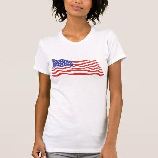 USA Flag Ladies Performance Micro-Fiber Singlet Tshirt