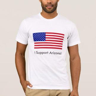 USA-Flag-Large, I Support Arizona! T-Shirt