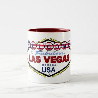 USA Flag Las Vegas Two Tone Mug