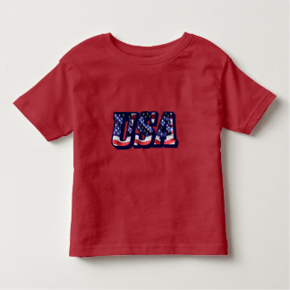 USA Flag Letters, American Flag Toddler T-Shirt