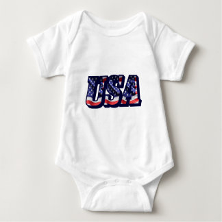 USA Flag Letters, Flag Baby Jersey Bodysuit