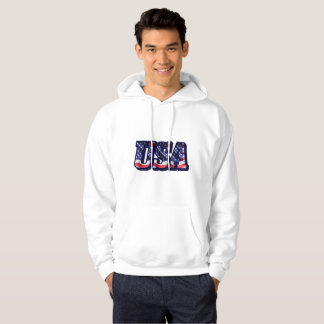 USA Flag Letters, Flag Men's Hooded Sweatshirt