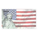 USA FLAG & LIBERTY Double-Sided STANDARD BUSINESS CARDS (Pack OF 100)
