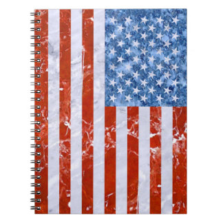 USA FLAG MARBLE NOTEBOOK