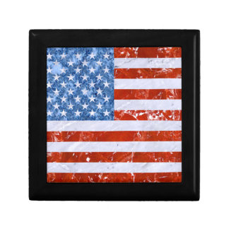 USA FLAG MARBLE SMALL SQUARE GIFT BOX