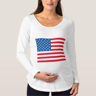 USA Flag Maternity T-Shirt