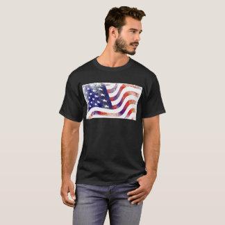 USA Flag Men's Basic Dark T-Shirt