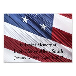 USA Flag Military Memorial Service Announcement
