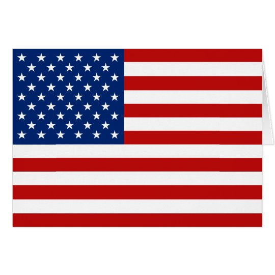 USA Flag Notecard