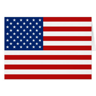 USA Flag Notecard Note Card