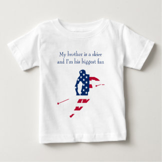 USA Flag of America Skiing American Baby T-Shirt